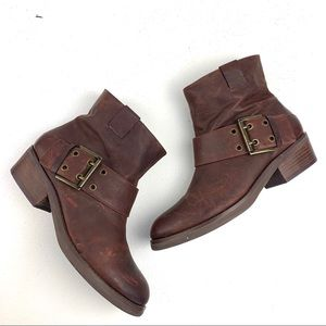 Nine West Kassy leather Ankle buckle Boots